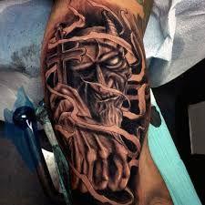 Image result for full back tattoo demon