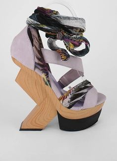 8f8cb25fc20 carved wooden heel now this is very weird but i like them anyway Crazy High  Heels