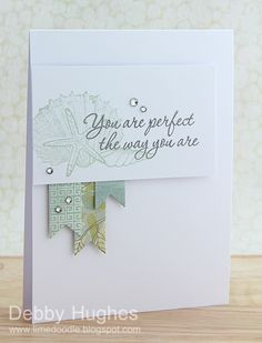 clean & simple card by Debbie Hughes.... (pin just goes to her blog, NOT the individual post)
