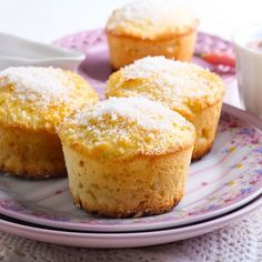 It's amazing what the flavor of lemon can do to a gluten-free dessert. These cupcakes are so deliciously light and fluffy, I didn't even use any frosting. Bon Dessert, Dessert Bars, Dessert Recipes, Thermomix Desserts, Gluten Free Desserts, Cooking Chef, Cooking Recipes, Beyond Diet Recipes, Summer Cakes