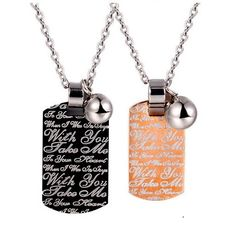 Personalised Girlfriend Boyfriend Relationship Necklaces Set for 2 by Gullei.com