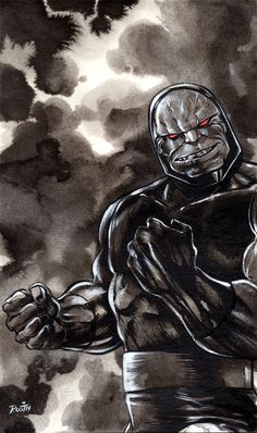All he wants is the anti-life equation.  That's not too much to ask for, is it?    Darkseid by Mike Rooth Comic Art