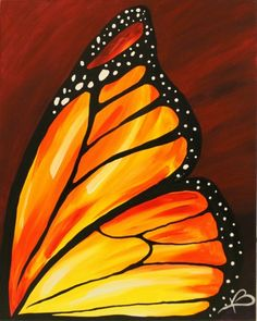 Join us for a Paint Nite event Mon Feb 27 2017 at 4840 NW Bethany Rd. Portland OR. Purchase your tickets online to reserve a fun night out! Butterfly Painting Easy, Butterfly Canvas, Easy Canvas Painting, Butterfly Drawing, Easy Paintings, Fabric Painting, Painting & Drawing, Canvas Art, Monarch Butterfly
