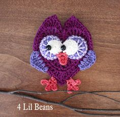 Heart Owl Applique (Patter 06) 4lilbeans.etsy.com
