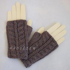 Looking for your next project? You're going to love Palm Fingerless Mitts by designer R0SEDEW.