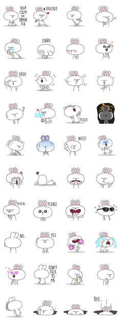 This is the perfect sticker for all of you bunny rabbit lovers, use it in your daily conversations.
