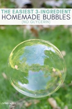 DIY bubble solution for kids - non-toxic, no glycerin, cheap, and super easy to make! Recipes for kids to make Easy Homemade Bubble Solution Super Bubbles, Kids Bubbles, Giant Bubbles, Giant Bubble Wands, Blowing Bubbles, Craft Activities For Kids, Summer Activities, Toddler Activities, Kids Crafts