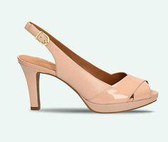 Schicke nude-rosafarbene Sandalen aus Premium-Leder, Clarks Delsie Kala, 99,95 Euro: http://www.clarks.de/p/26105771