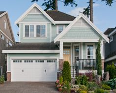 Best Light Blue Exterior House Colours Benjamin Moore Wythe Blue Shingles and Vanilla Milkshake painted by Warline Painting of Surrey, BCBenjamin Moore Wythe Blue Shingles and Vanilla Milkshake painted by Warline Painting of Surrey, BC Exterior Paint Colors For House, Paint Colors For Home, Outside House Paint Colors, Cottage Exterior Colors, Beach House Colors, Exterior Remodel, Interior Exterior, Exterior Design, Light Blue Houses