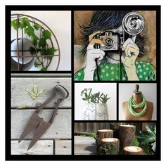 Green Day by thefreshones on Polyvore featuring interior, interiors, interior design, maison, home decor, interior decorating, iCanvas and vintage