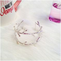 • Twisted Branch Bangle in Silver • Branches or Twigs...this is a sure conversation piece bracelet Boutique Jewelry Bracelets