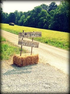 This sign with a hay bale! https://www.etsy.com/listing/124158066/rustic-wedding-signs-trueconnection?ref=favs_view_16