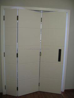 Porta camarão três folhas com pintura de laca P.U branco acetinado (Sayerlack) - Ecoville Portas Especiais
