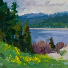 """Tim Deibler will be teaching """"Painting en Plein Air with Intention: 100 Strokes or Less"""" June 27-30. #oil #penartworks"""