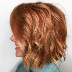 Strawberry-orange Twist #snapdragonstudio #wellalife #innosense #colorfull #hairpainting #instadaily #instahair #bumbleandbumble #shorthair #curls #fitchick #cassondralyon
