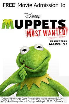 Muppets Most Wanted takes the world by farce on Friday. Stock up on your favorite Muppet movies and unlock this movie admission offer. #Muppets #MuppetsMostWanted