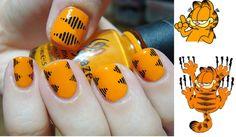 Garfield nails polishedlove.blogspot.com