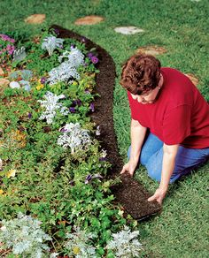 Recycled Rubber Mulch Border Edging