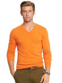 ... Gentleman Ralph Lauren Red Men Mesh V neck Sweaters ...