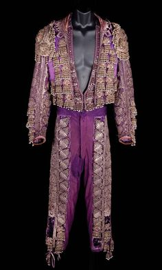 """Rudolph Valentino """"Juan Gallardo"""" signature """"Suit of Lights"""" matador outfit by Travis Banton for the 1922 Blood and Sand. (Paramount, 1922)"""