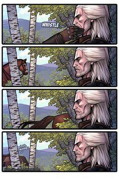 прикольный мемы про игры– Google Поиск The Witcher Wild Hunt, The Witcher 3, The Witcher Books, Witcher Art, Meme Comics, Memes Humor, Grumpy Cat, White Wolf, Gaming Memes