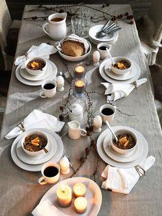 rustic winter tablescape