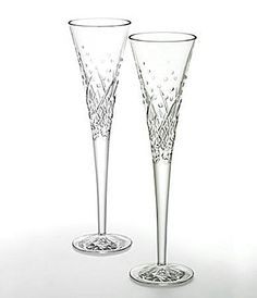 """Waterford Wishes """"Happy Celebrations"""" Flute Pair"""