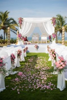 Beach Wedding Inspirations - White & Floral Inspired Wedding Beach Decor | WedMeGood #wedmegood #beach #weddings