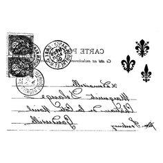post card vintage Vintage Labels, Vintage Ephemera, Vintage Paper, Vintage Postcards, Vintage Images, French Vintage, Printable Labels, Printable Art, Stencil Diy