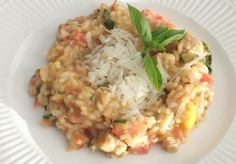Tomatoes, Basil, Zucchini – Laura's Summer Risotto | More Savory, Less Sweet