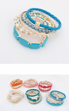 Multilayer Bohemian beads bracelets Bangles for party