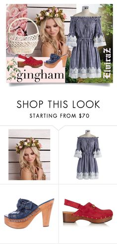 """Check Republic:Gingham Dress"" by elza76 on Polyvore featuring мода, Free Country, Chicwish, Miu Miu и Gucci"