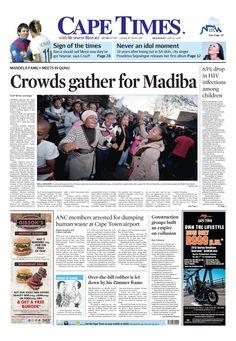 Crowds gather for Madiba