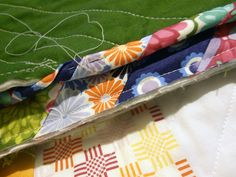 A Quilter's Table: Striped Binding