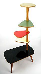 Vintage-1960s-PLANT-STAND-Mid-Century-Danish-Modern-Bauhaus-Art-Deco-70s-50s-Era