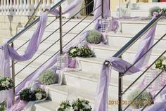 Church Wedding Decorations, Wedding Church, Outdoor Furniture, Outdoor Decor, Stairs, Home Decor, Lilac, Stairway, Decoration Home