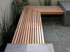 Concrete wood bench outdoor Ideas for 2019 Concrete Wood Bench, Concrete Furniture, Concrete Projects, Concrete Fireplace, Concrete Design, Pallet Furniture, Deck Bench Seating, Outdoor Seating, Outdoor Decor