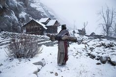 Third Place Winner, People – Remote life at -21 degree by mattia passarini