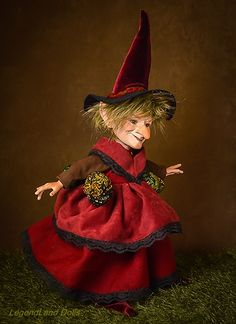 Witch BJD doll. Art doll, ooak. Full body porcelain ball jointed doll by LegendLand Dolls