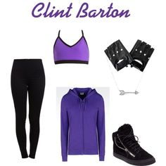 Clint Barton workout inspired outfit by wolfie112-99 on Polyvore featuring polyvore мода style EA7 Emporio Armani Pieces Giuseppe Zanotti Adina Reyter