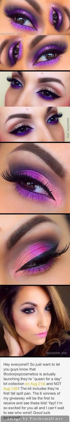 Makeup Gold Purple Make Up Trendy Ideas Love Makeup, Makeup Inspo, Makeup Art, Makeup Inspiration, Makeup Tips, Makeup Looks, Hair Makeup, Makeup Ideas, Purple Makeup