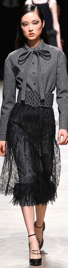 lace skirt#Rochas Fall 2015