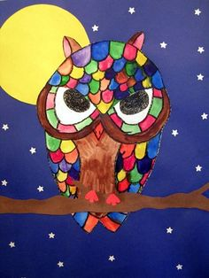 Love the owl art!  Combine this with the Owl Moon book and you have an instant illustration idea for a student story!