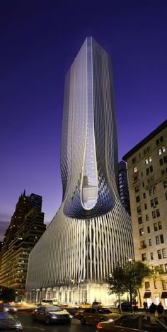 Park Avenue Tower - Client: Zaha Hadid Architects - Location: NYC (New York) ©… Future Buildings, Unique Buildings, Interesting Buildings, Amazing Buildings, Office Buildings, Architecture Design, Futuristic Architecture, Beautiful Architecture, Contemporary Architecture