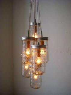DIY lampe: luminaire pot masson