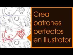 (894) Adobe Illustrator: Patrones perfectos - YouTube Adobe Illustrator, Illustrator Tutorials, Photoshop, Youtube, Make It Yourself, Illustration, Pattern, Tools, Business