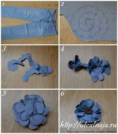 Best 12 This listing is for 6 upcycled denim flowers. Choose from 2 and inches, 3 inches, or 4 inches. The – SkillOfKing.Com Best 12 This listing is for 6 upcycled denim flowers. Choose from 2 and inches, 3 inches, or 4 inches. The – SkillOfKing. Jean Crafts, Denim Crafts, Denim Flowers, Fabric Flowers, Flower Jeans, Flores Denim, Artisanats Denim, Fabric Flower Tutorial, Denim Ideas