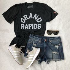 f42a7282f69feb Shop the Look from jillgg on ShopStyleI love repping GR with this fun GRAND  RAPIDS tee from  mitten - so soft too!   ... Michigan GearMiuccia ...