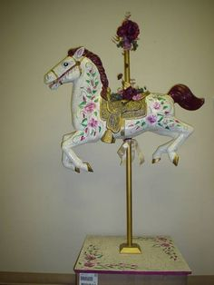 carousel horse made from an old spring horse Wood Sculpture, Sculptures, Carosel Horse, Recycling For Kids, Horseshoe Crafts, Equestrian Decor, Painted Pony, Hobby Horse, Finding A House