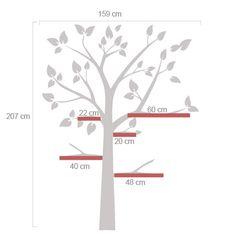 Florais para decoração de paredes - Arvore Infantil adequada a prateleiras - Decoração em vinil Autocolante decorativo e Papel de parede